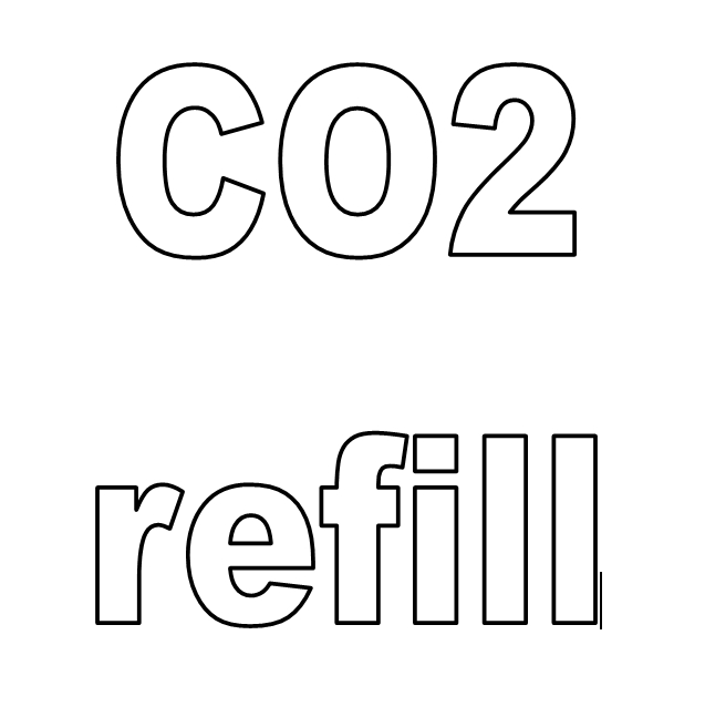 CO2 Cylinder refill - with empty cylinder exchange - Carbon Dioxide