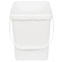 10L square pail white - pail only  230x230x300h - c10