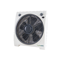 Hydroaxis 30cm Box Fan 3 Speed - rotating louvres - great for tents - Available year round