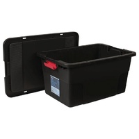 100L tank and lid - used as reservoir crate or to build an aeroponic system