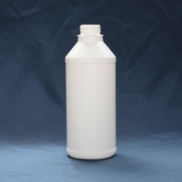 1litre cylindrical bottles with 38mm white cap  - empty