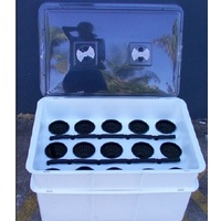 Clear propagator lid 4 vent - lid only - large propagator lid to suit 23L crate