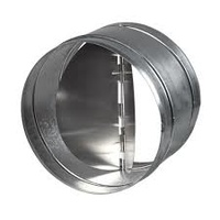 150mm back draught shutter for fan ducting - close when no airflow