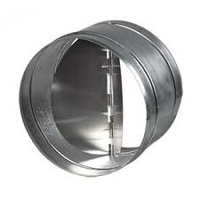 250mm back draught shutter for fan ducting - close when no airflow