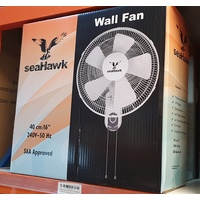 5 Blade 16inch Wall Fan for circulation blade 40cm 50Watt Oscillating Seahawk