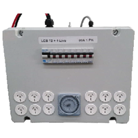 Professional 12 outlet light control board and timer with 4 live 80AMP