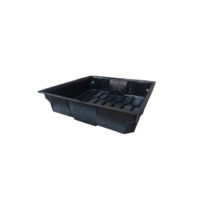 2' x 2' Xtray Flood and Drain tray white - 60x58x15cm inner - 69x69x17cm outer measurements X-Trays