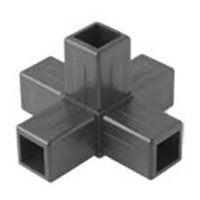 aluminium frame - 5 way plastic fitting Qubelok