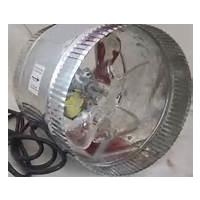 200mm fan - budget inline fan - metal body - plastic blade - 235lps - 500CFM