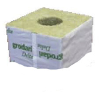 CTN 100mm wrapped cube Grodan Delta 10G - box of 180 - 40mm hole - 100mm high