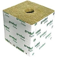 150mm Grodan HUGO block 150x150x150mm x 1 wrapped cube with 40mm hole each - (48 to carton)