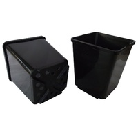 pot 135mm square black 2litre 150mm high c128