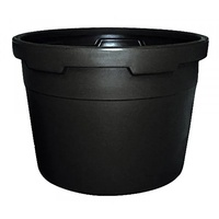 Pot/Tub 580mm, black NO HOLES 95Ltr