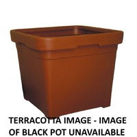 pot 580mm square black no holes 95litre GCP