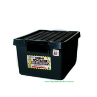 Kitab Black 15Ltr stashaway with lid - crate tank