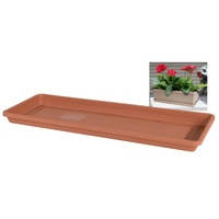 Tray for window box 500mm long terracotta colour plastic c19