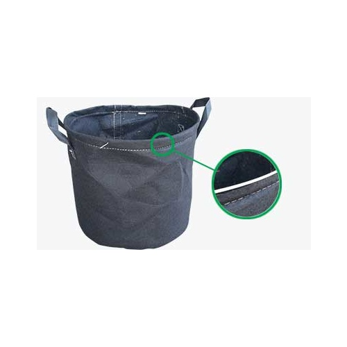Fabric pot 50Ltr wire rim- like Geopots but with a wire rim to hold them in shape - 300gsm Transplanter pot