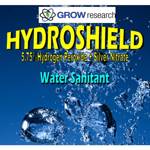 Hydroshield 5L  - Silver and Hydrogen Peroxide - H2O2 + Ag Water Sanitant - Grow research