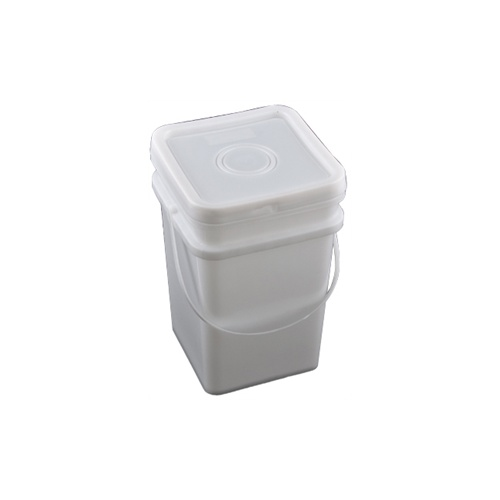20L square pail white - pail only 270x270x390h - c15