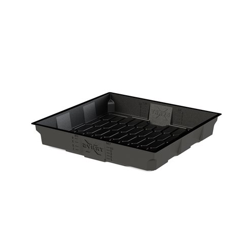3x3 Xtray Flood and Drain tray black - 91x91x15cm inner - 100x100x18 outer measurements X-Tray