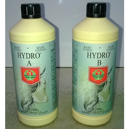 Hydro Nutrient 1L A + 1L B = 2L set H+G  - concentrated.