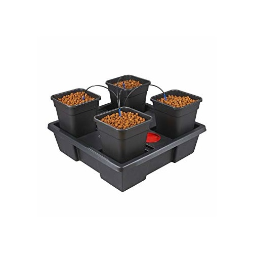 Wilma XL 4 cell with media - low level growing system with pump tank pots irrigation